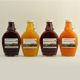 Assorted Fruit Syrups – 4 Bottles