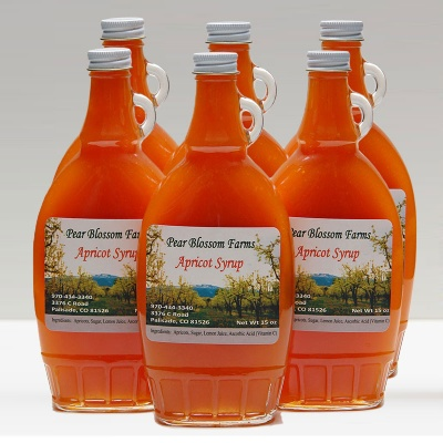 apricot syrup half case